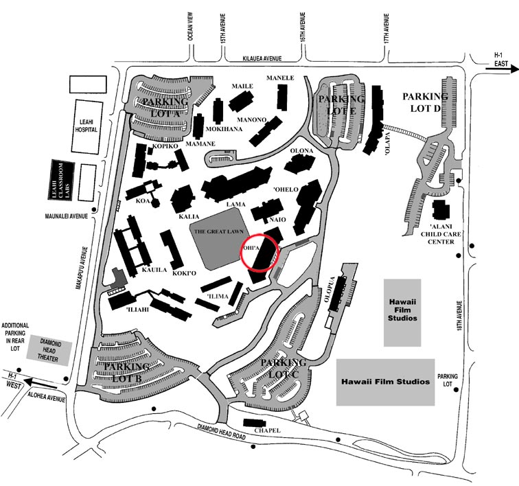 Honolulu Community College Campus Map.Directions To Kapiʻolani Community College Hawaiian Historical Society